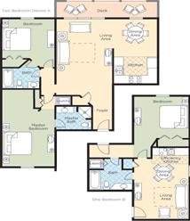 Wyndham Kingsgate Resort floorplan